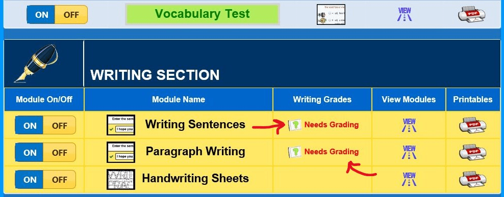 WordListWritingGrading1