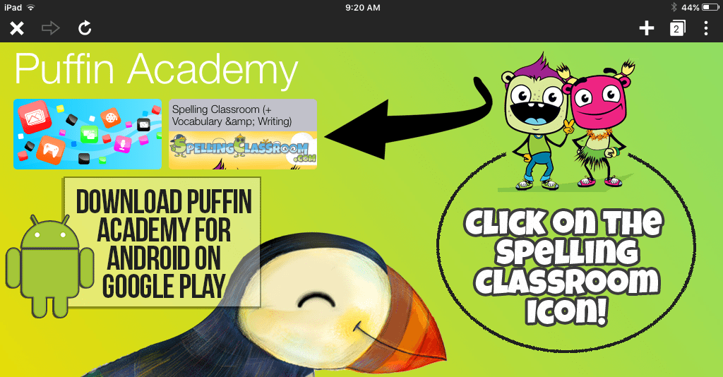 SpellingClassroomPuffinAcademyAndroid